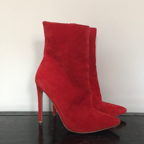 6c1cb9e48fa Steve Madden Wagner Red Ankle Boots